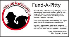#fundapitty  Send submissions to julie@shortyscharities.org  @ShortyRossi