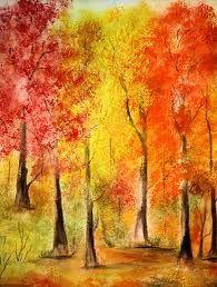 Fall Foliage watercolor art