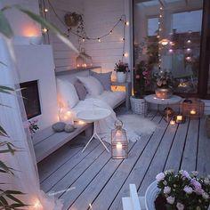 60 chic balcony decor ideas for every home - Balkon Ideen - Balcony Furniture Design Outdoor Spaces, Outdoor Living, Outdoor Decor, Outdoor Balcony Furniture, Winter Balkon, Small Balcony Decor, Balcony Ideas, Balkon Design, Aesthetic Rooms
