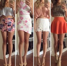Pin by Heaven Tovanche on Cute outfit in 2019 Skirt Outfits, Sexy Outfits, Pretty Outfits, Summer Outfits, Casual Outfits, Fashion Outfits, Girls Fashion Clothes, Teen Fashion, Womens Fashion
