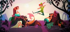 peter pan mermaids - Buscar con Google