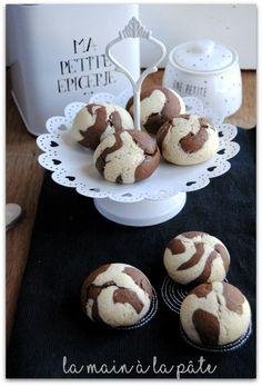 Marbled chocolate vanilla shortbread