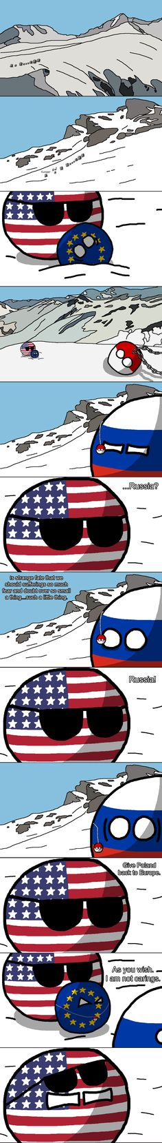 "Lord of the rings  part I ""The Mountain Pass"" ( USA, Russia, Europe, Poland ) by Baron koleye of kolaje #polandball #countryball"
