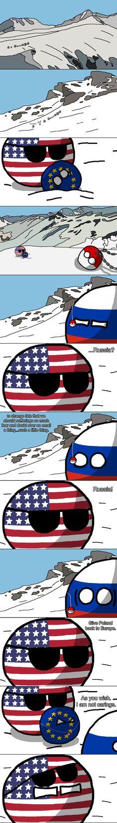 "Lord of the rings  part I ""The Mountain Pass"" ( USA, Russia, Europe, Poland ) by Baron koleye of kolaje #polandball #countryball"