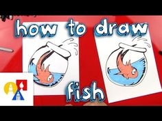 How To Draw Fish From The Cat In The Hat - Art For Kids Hub -