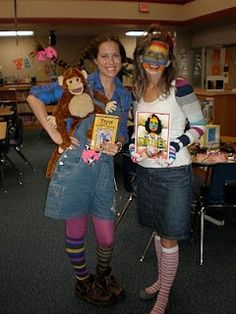 storybook character costumes for teachers | Character Day Ideas... Great ideas for the teachers costumes!