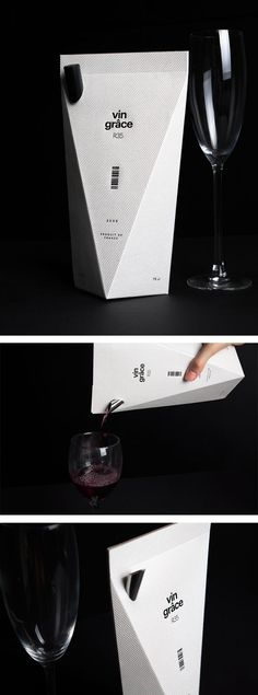 Here you go Cedar Total Spectrum - Creative Packaging. vin grâce wine by minimalist. Beautiful curated by Packaging Diva PD Packaging Box Design, Cool Packaging, Bottle Packaging, Packaging Design Inspiration, Brand Packaging, Label Design, Branding Design, Product Packaging, Package Design