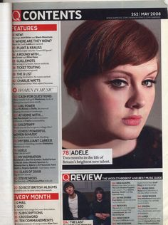 Image result for music magazine contents page