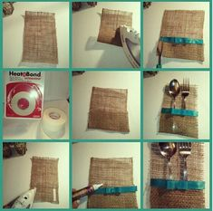 Step by step how to do burlap cutlery holders ~ www.moderneleganc...