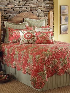 I love the colors in this bedding.