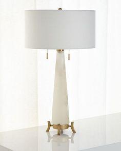 HB004 Alabaster Table Lamp