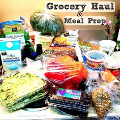 Today I used my new cookbook to grocery shop and meal prep--everything is portioned out, making serving sizes so much easier!! All of this was just a little over $100--this is for 2 people, for well over a week. There is some meat in there (for the bf), and all the groceries are for meals that will be prepped for the week(s)! If you'd like to know what is in this giant pile, and see some of my veggie grocery lists, CLICK the pin to send me a message :-) #plantbased #mealprep