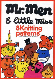 PDF File - Mr Men and Little Miss Intarsia Knitting Pattern