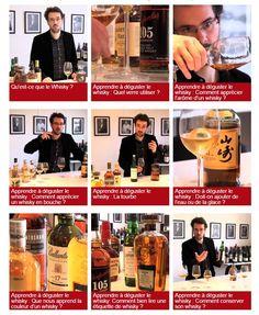 Voici un ensemble de 10 articles réalisés par Alexandre Vingtier (spécialiste des spiritueux) avec chacun une vidéo qui vous aidera à apprendre à déguster/découvrir le whisky. Cet article issu du site La revue du vin de France est une excellente initiation à la découverte de ce noble breuvage. Qu'est ce que le whisky ? Quel …