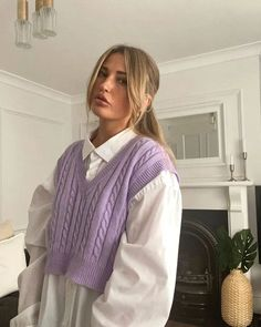 Purple Outfits, Retro Outfits, Cute Casual Outfits, Spring Outfits, Vintage Outfits, Look Fashion, Girl Fashion, Fashion Outfits, Womens Fashion