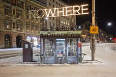 Valofestivaali Lux Helsinki Erottajan paviljonki Nathalie Chambart: Nowhere