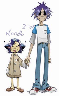 Gorillaz. 2D and Noodles