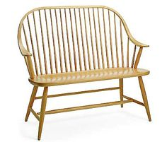 Windsor Bench. From Pompanoosuc Mills. American hardwood furniture. Hand crafted in Vermont.