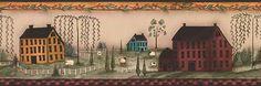 Wallpaper Borders R Us  Primitive Houses