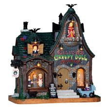 Lemax Spooky Town Collection Creepy Doll Shop, With 4.5V Adaptor