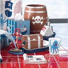 Option 2 Pirates bathroom  Amazon.com: Kassatex Pirates Cotton Jar: Home & Kitchen