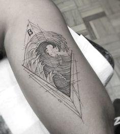 Tattoo artist William Marin thin black tattoo, graphics, lines, minimalism Mini Tattoos, Black Tattoos, Body Art Tattoos, Sleeve Tattoos, Tattoos For Guys, Cool Tattoos, Minimalist Tattoo Meaning, Surf Tattoo, Paris Tattoo