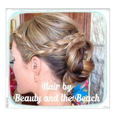 Wedding hair, updo with braid