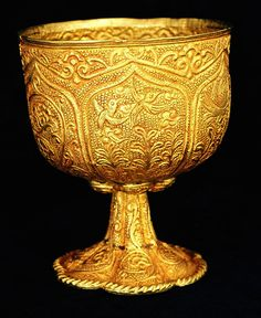 Tang Dynasty Gold Chalice