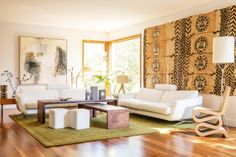 The Tongan tapa cloth in Kiwi Jody Brettkelly and American Kevin Coldiron's San Francisco home was bought by Jody's ...