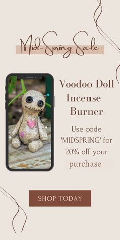 Hand sculpted ceramic voodoo doll. High-fired stoneware, cold glazed. Cone incense burner smokes from eyes & mouth. Incense Cones, Voodoo Dolls, Flame Retardant, Incense Burner, Spring Sale, Stoneware, Cold, Eyes, Essentials