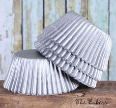 Matte Silver Cupcake Liners Gray Cupcake by thebakersconfections, $3.50