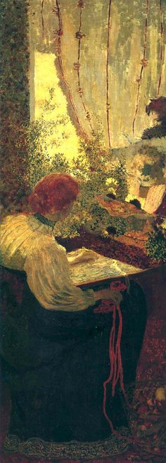 "Edouard Vuillard French Painter 1868 - 1940 ""The Tapestry"" from ""The Album"" 1895 Pierre Bonnard, Edouard Vuillard, Paul Gauguin, Maurice Denis, Avant Garde Artists, Post Impressionism, Henri Matisse, Museum Of Modern Art, Art Museum"