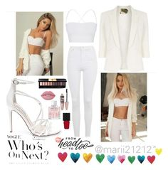 """""""White Star..."""" by fashionable1looks ❤ liked on Polyvore featuring Topshop, Theory, Jolie Moi, Steve Madden, Lime Crime, Maybelline, Jimmy Choo, Gucci, Yves Saint Laurent and WALL"""