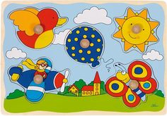 puzzle s úchytkami Puzzles, Ciel, Tweety, Pikachu, Kids Rugs, Fictional Characters, Constance, 1 An, Jouer
