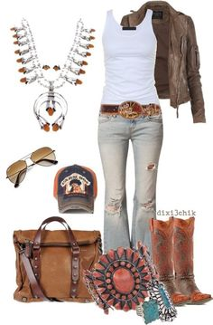 Love, love, love this western style... especially that necklace!