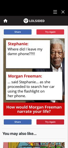 Morgan Freeman, Fun Quizzes, Try Again, Looking Back, Meant To Be, Sayings, Life, Lyrics, Quotations