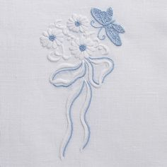 Butterfly BowTowel - White Linen – Henry Handwork