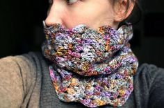 Cardiff Cowl by Lion Brand Yarn. malabrigo Worsted, Deja Vu colorway. Crochet