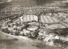 Aerial of Hurlingham early 20th century (Courtesy of the Hurlingham Polo Association)