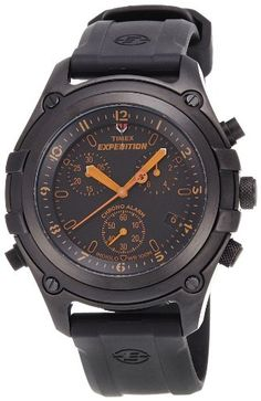 bb15e9f2c71f Timex Men s Expedition Trail Series Chronograph with Alarm Black on Black  Watch     Click image for more details. Wristwatch · Timex watches for men