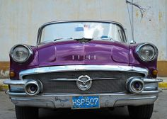1958 Purple Buick in Cuba. by BazzaStraße, via Flickr