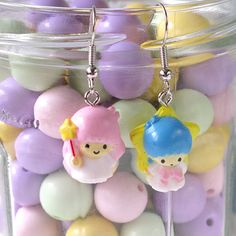 Kawaii Little Twin Stars Dangle Earrings    Cute, harajuku, lolita, geek chic, GreenC, Kawaii, Kitsch, Little Twin Stars, Manga, Anime