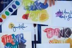 Kids' Thank You Notes -- love this crayon resist technique, and kids can make a little set of cards to give as a gift