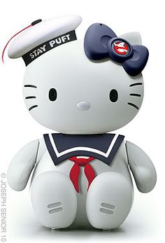 Hello Kitty from ghost busters Sanrio Hello Kitty, Hello Kitty Toys, Here Kitty Kitty, Captain America, Hello Kitty Characters, Miss Kitty, Hello Kitty Collection, Batman, Ghost Busters