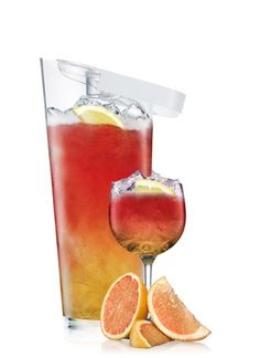 ABSOLUT Ruby Riviera Pitcher Edition   1 Part ABSOLUT RUBY RED  La Vieille Ferme Rosé Wine  Orange Soda  5 Slices Grapefruit