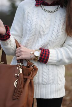 cable knit sweater, arm candy