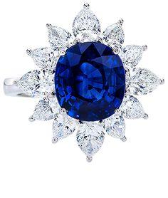 Cellini Jewelers - Sapphire & Diamond Ring
