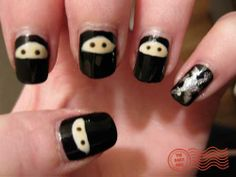 I am going ninja on my nails! Coolest nail design ever!