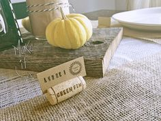 Wine Cork Placeholders DIY | Inspiration Nook