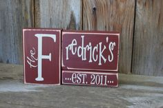 Last Name Blocks personalize for free great for gift by invinyl